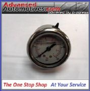 Fuel Pressure Gauge 1-7 bar dual dial Glycerine Filled FSE Glenco